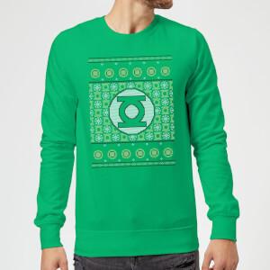 DC Green Lantern Knit Weihnachtspullover - Grün