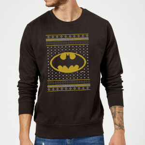 DC Batman Knit Christmas Sweatshirt - Black