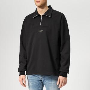 Acne Studios Men's Faraz Stamp Zip Sweatshirt - Black