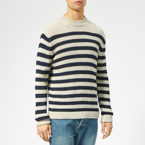 Acne Studios Men's Kiss Slouchy Stripe Jumper - Navy/Beige