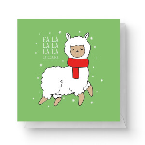 Fa La La La La La Llama Square Greetings Card (14.8cm x 14.8cm)