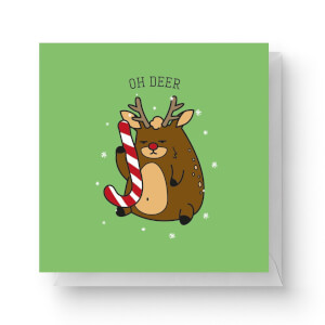Oh Deer Square Greetings Card (14.8cm x 14.8cm)