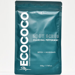 ECOCOCO Peppermint and Charcoal Body Scrub 220g