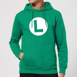 Nintendo Super Mario Luigi Logo Hoodie - Kelly Green