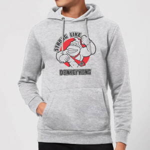 Nintendo Donkey Kong Strong Like Donkey Kong Hoodie - Grey