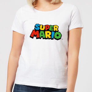 Nintendo Super Mario Colour Logo Women's T-Shirt - White