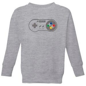 Nintendo Super Nintendo SNES Controller Pad Kid's Sweatshirt - Grey