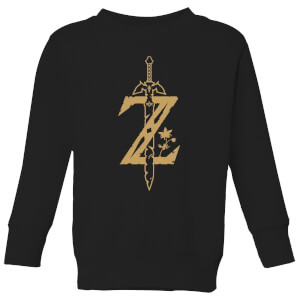 Nintendo Legend Of Zelda Master Sword Kid's Sweatshirt - Black