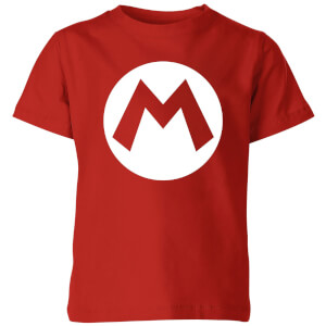 Nintendo Mario Logo Kids' T-Shirt - Red