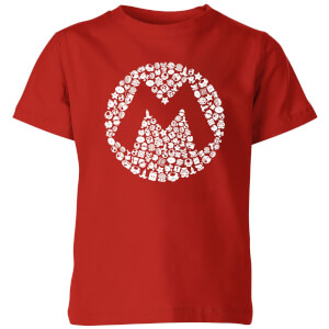 Nintendo Super Mario Mario Items Logo Kid's T-Shirt - Red