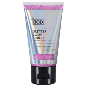 BOD Pink Salt and Coconut Glitter Scrub with Iridescent - Petite