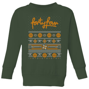 How Ridiculous Forty Four Knit Kids' Christmas Sweatshirt - Forest Green