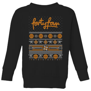 How Ridiculous Forty Four Knit Kids' Christmas Sweatshirt - Black
