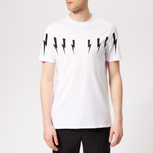 Neil Barrett Men's Bolt Wings T-Shirt - White/Black