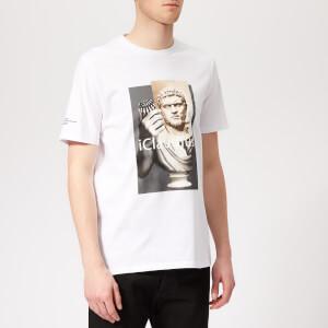 Neil Barrett Men's Iclaudius T-Shirt - White/Print