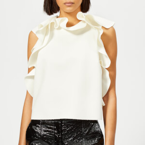 MSGM Women's Crepe Sleeveless Top - Cream