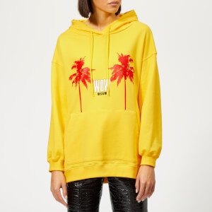 MSGM Women's Palm Logo Hoodie - Yellow