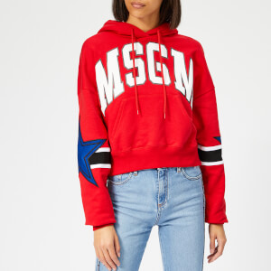 MSGM Women's Block Colour Hoodie - Red