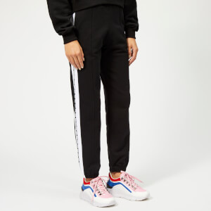 MSGM Women's Jersey Web Logo Trousers - Black