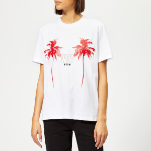 MSGM Women's Palm Logo T-Shirt - White