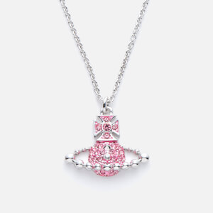Vivienne Westwood Women's Lena Small Bas Relief Pendant - Light Rose/Rhodium
