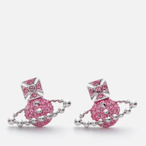 Vivienne Westwood Women's Lena Bas Relief Earrings - Light Rose / Rhodium