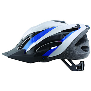 ETC Zephyr Dial Fit Adult Cycling Helmet - Silver/Black/Blue