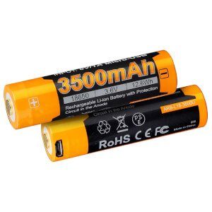 Fenix ARB-L18-3500U-USB 18650 Rechargeable Li-ion Battery - 3500mAh