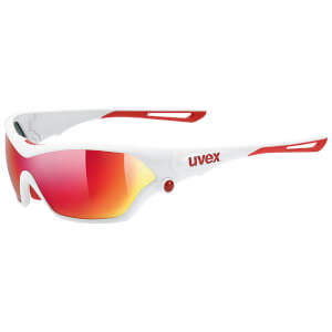 Uvex Sportstyle 705 Glasses - White/Red