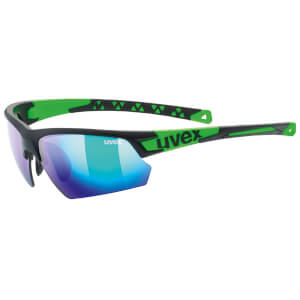 Uvex Sportstyle 224 Glasses - Black Matte/Green