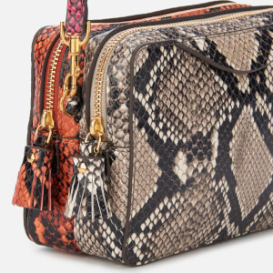 Anya Hindmarch Women's Double Zip Wallet on Strap - Natural/Burnt Sienna: Image 4