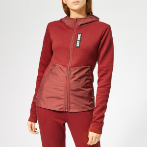 Calvin Klein Performance Women's Full Zip Hoody - Merlot