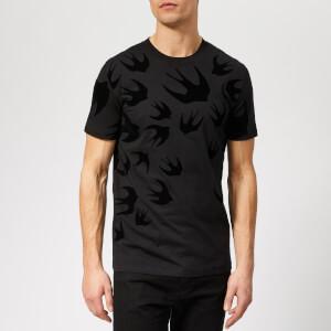 McQ Alexander McQueen Men's Swallow Swarm T-Shirt - Darkest Black