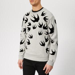 McQ Alexander McQueen Men's Swallow Swarm Flock Sweatshirt - Mercury Melange
