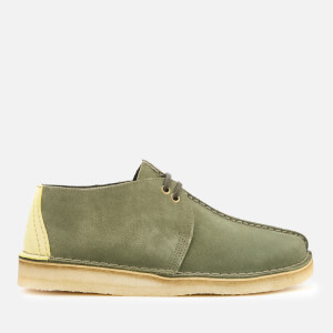 Clarks Originals Men's Desert Trek Suede Shoes - Sage