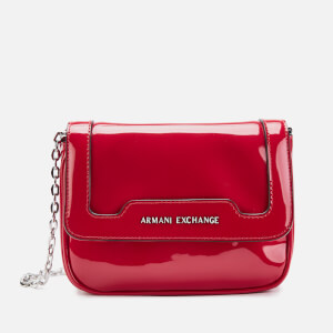Armani Exchange Women's Patent Small Cross Body Bag - Red