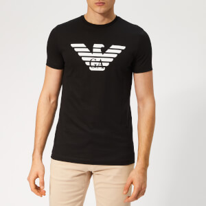Emporio Armani Men's Large GA Eagle Logo T-Shirt - Nero