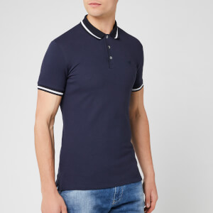 Emporio Armani Men's Contrast Collar Polo Shirt - Blu Peacoat