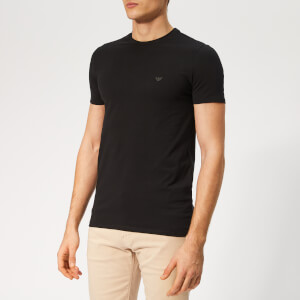 Emporio Armani Men's Small Logo T-Shirt - Black