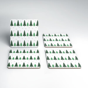 Christmas Tree Coaster Set