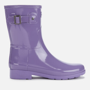 Hunter Women's Original Refined Short Gloss Wellies - Parma Violet