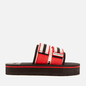 Hunter Women's Original Beach Flatform Slide Sandals - Hunter Red/Hunter White/Black
