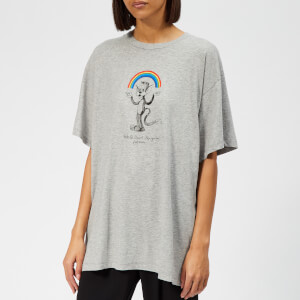 MM6 Maison Margiela Women's Rainbow T-Shirt - Grey Melange