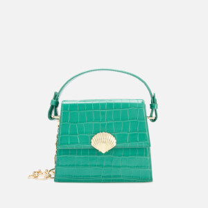 RIXO Women's Jemima Croc Bag - Emerald