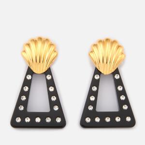 RIXO Women's Helene Earrings - Gold/Black