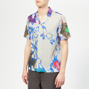 Folk Men's Soft Collar Shirt - Roller Print
