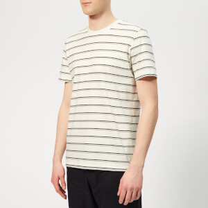 Folk Men's Striped T-Shirt - Ecru Plum Navy