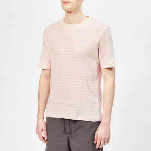 Folk Men's Classic Stripe T-Shirt - Pink Ecru