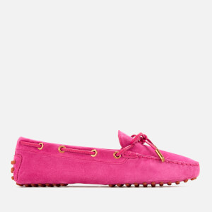 Tod's Women's Heaven Lace Up Driving Shoes - Fuxia Medio