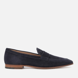 Tod's Men's Leather Moccasin Shoes - Galassia Scuro
